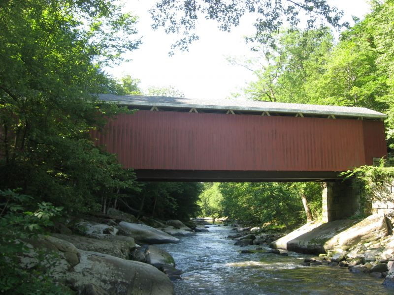 McConnell's Mill Covered Bridge - Photo Credit: Nyttend [Public domain], from Wikimedia Commons