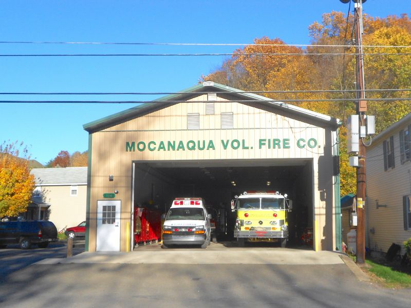 Mocanaqua, Pennsylvania Volunteer Fire Department in Luzerne County - Photo Credit: Smallbones [CC0], from Wikimedia Commons