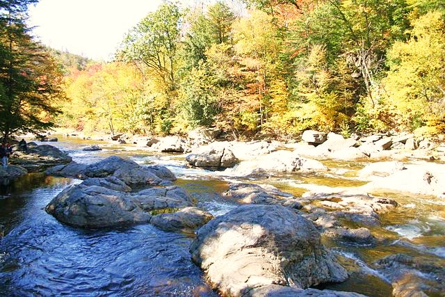 """""""The Haystacks in Loyalsock Creek"""" - Photo Credit: Jstuby at en.wikipedia [Public domain], from Wikimedia Commons"""