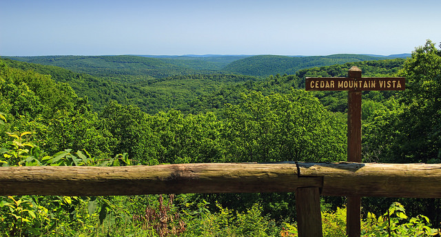Cedar Mountain Vista  Tioga State Forest, Tioga County : Photo Credit: Nicholas A. Tonelli - cc logo  Attribution 2.0 Generic (CC BY 2.0) - no changes made