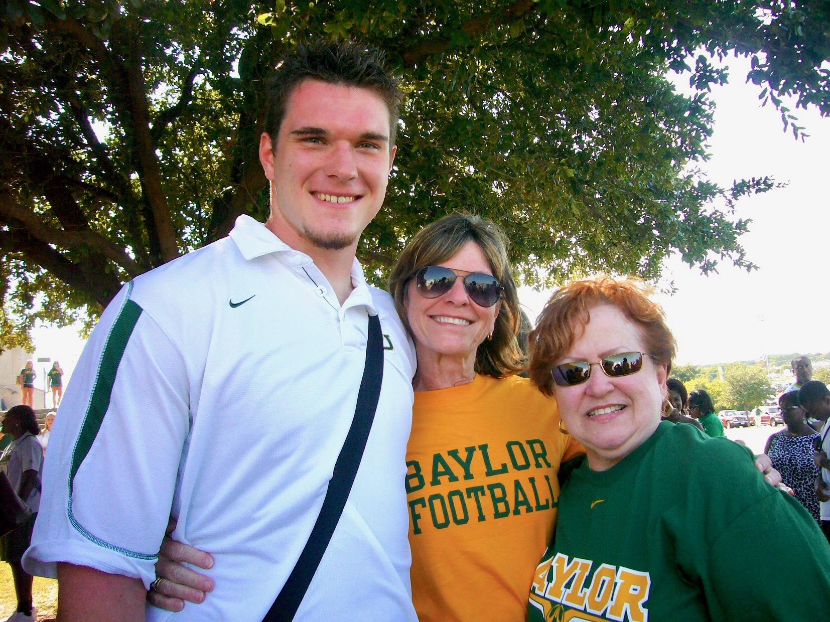 With her godson Joe and Susan Korbel