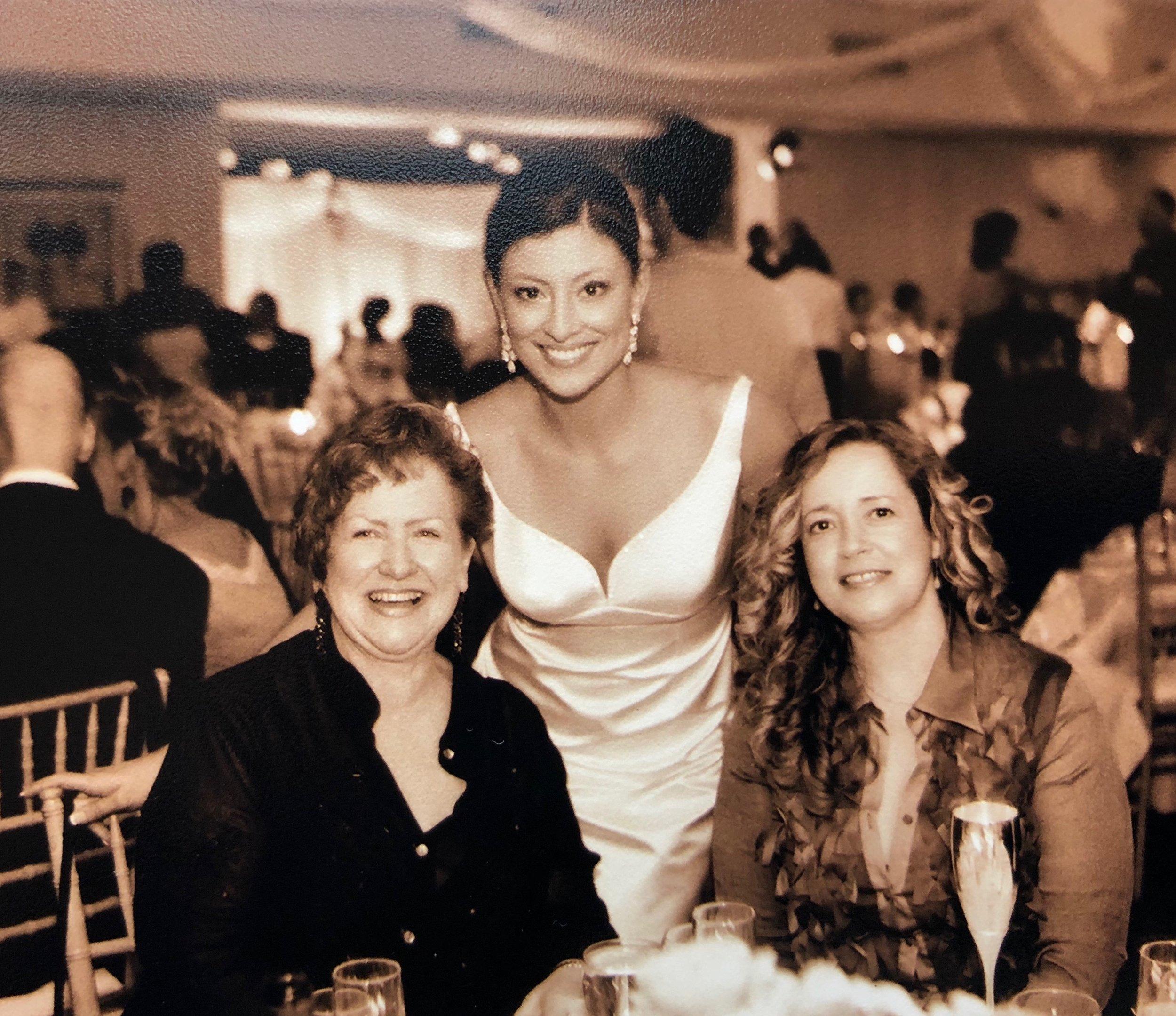 Diana Guevara's wedding, April 2005, with Maria Navarro