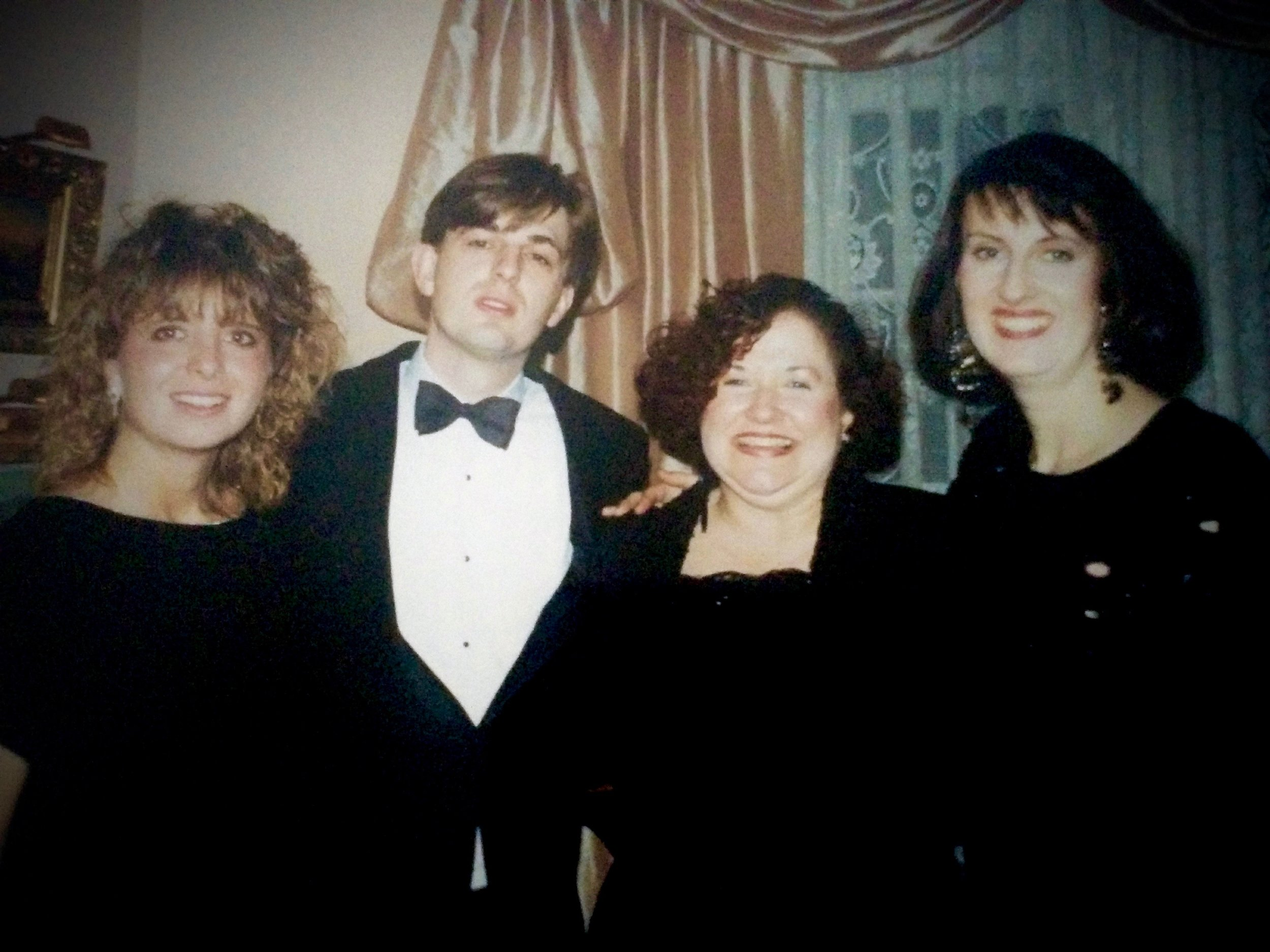 CEA Christmas party, early 90s; photo courtesy of Tia Plough