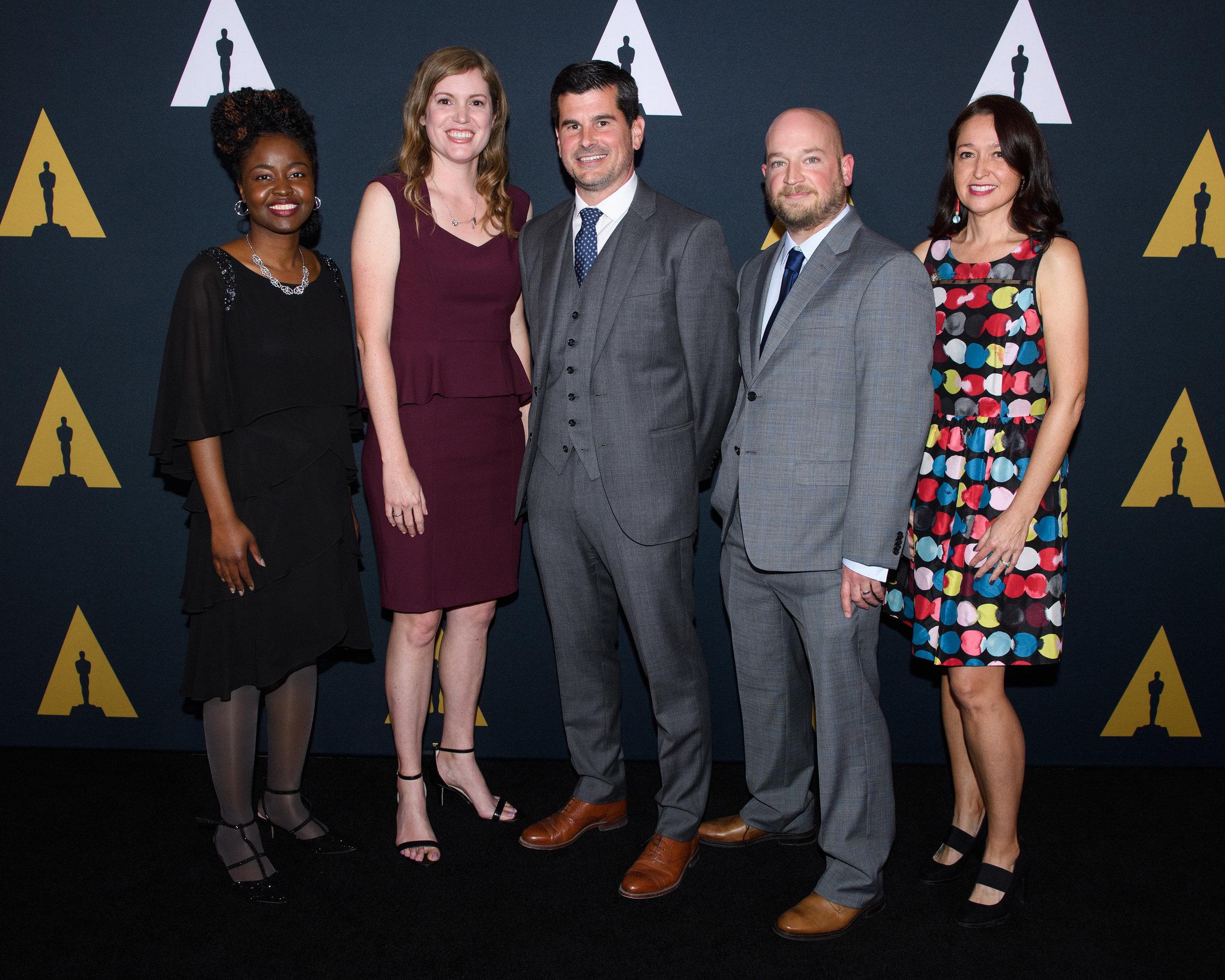 2018 Academy Nicholl Fellows - Grace Sherman, Allison Buckmelter, Nicolas Buckmelter, Joey Clarke, Jr., Wenonah Wilms