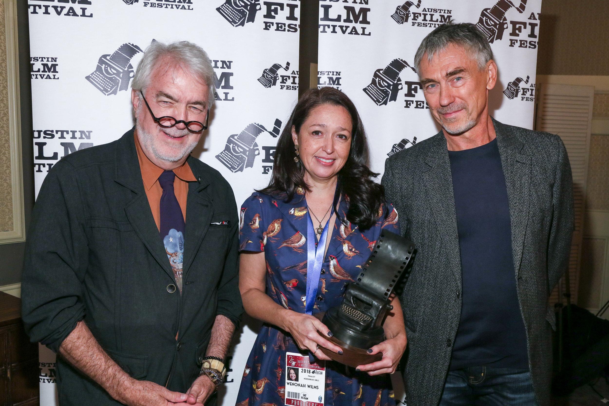 2018 Austin Film Festival. Jim Hart, Wenonah Wilms, Tony Gilroy
