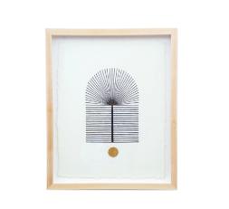 Palm Woodblock Print by Blockshop Textiles