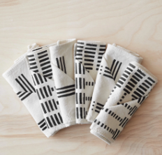 Echelle Mudcloth Napkins by The Citizenry