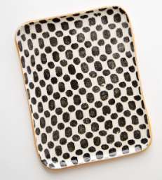 Pressed Pattern Ceramic Tray by Leif