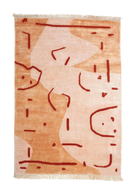 Abstract Vase Hand-Knotted Rug by Aelfie