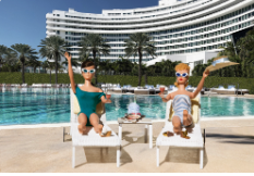 Lounge Girls at The Fountainebleau by David Parise