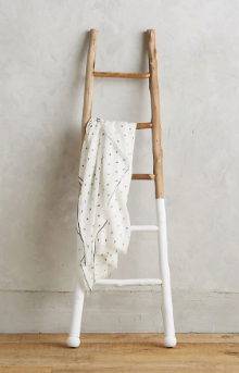 White Dipped Ladder by Anthropologie