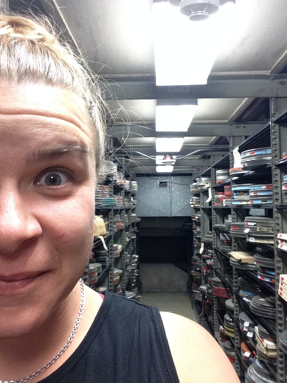 In the Lomax vault at Library of Congress