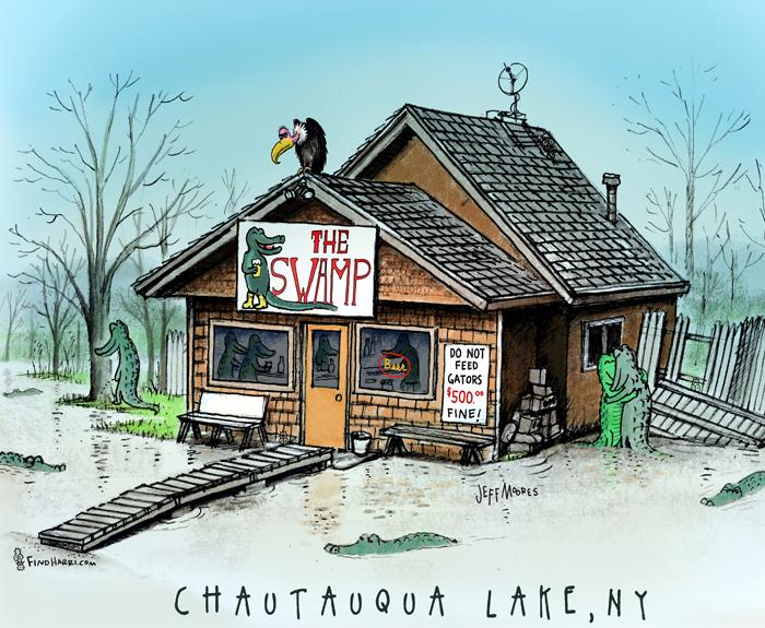 Swamp Bar Illustration