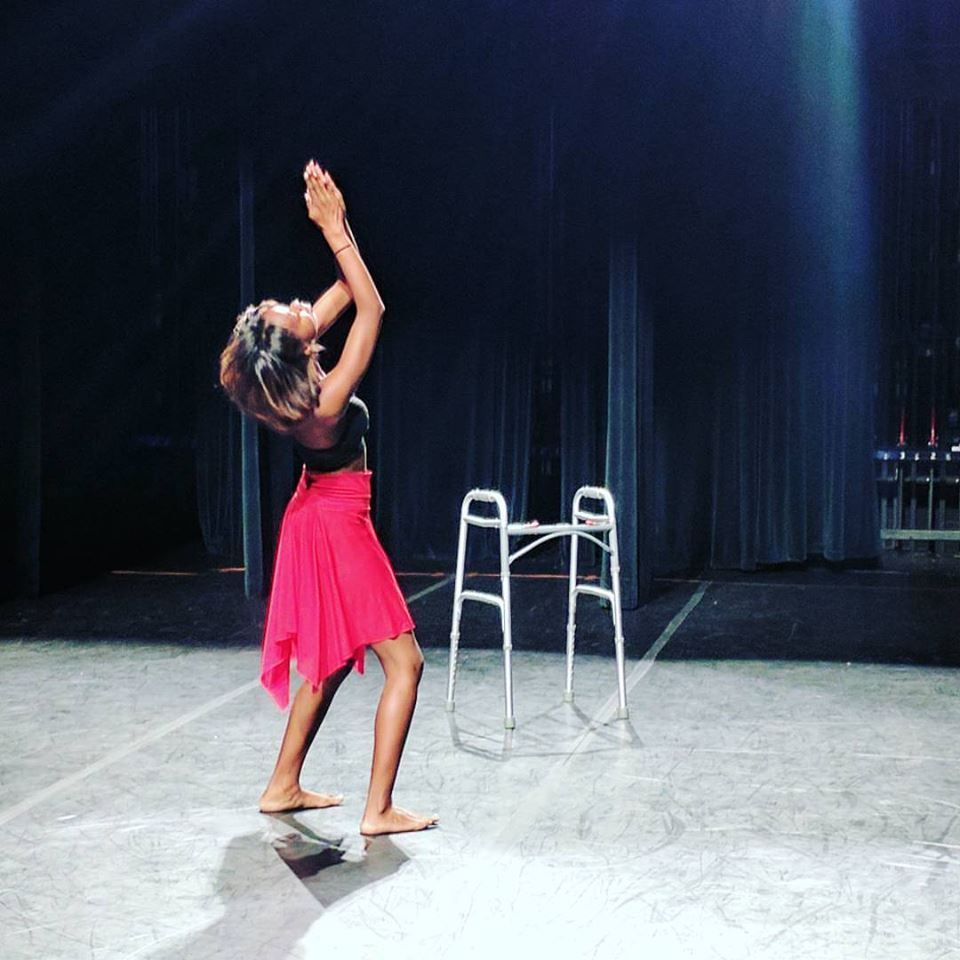 Director Ellice Patterson dancing