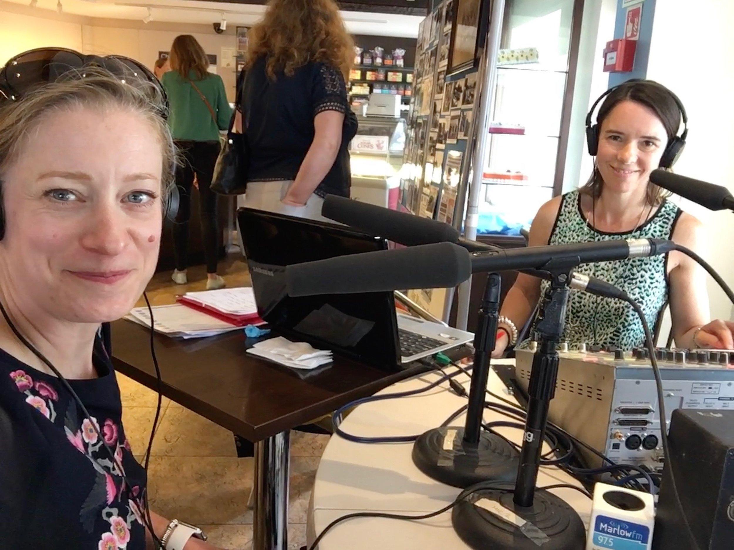 Carola Moon at MarlowFM's The Buzz - Radio Interview with Melissa Gale 4.jpg