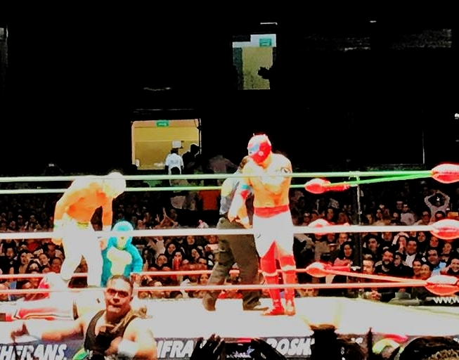 An evening with Lucho Libre