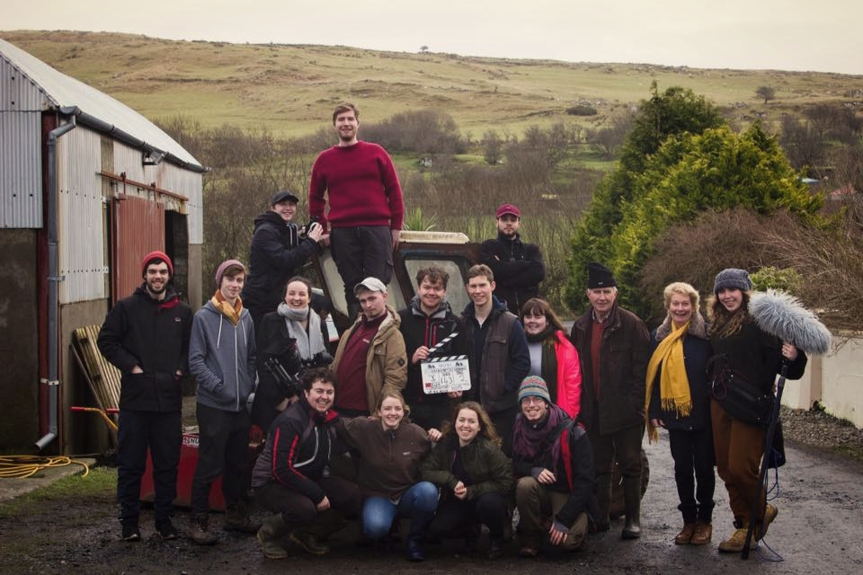 The cast and crew of Backwater on the final day of shooting, February 10th 2018. Photo by Freddie Greenall.
