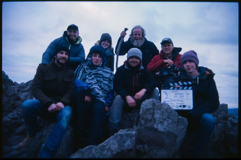 The cast and crew of  Steps  victorious atop the Sugarloaf mountain, Co. Wicklow. Photo taken by J.P Quill.