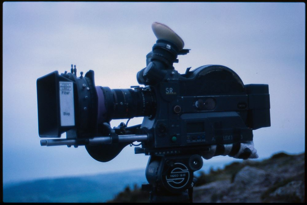 The Arri SR3 used on the shoot. It is loaded with Fuji 160t Vivid, 16mm film. Photo taken by J.P Quill.
