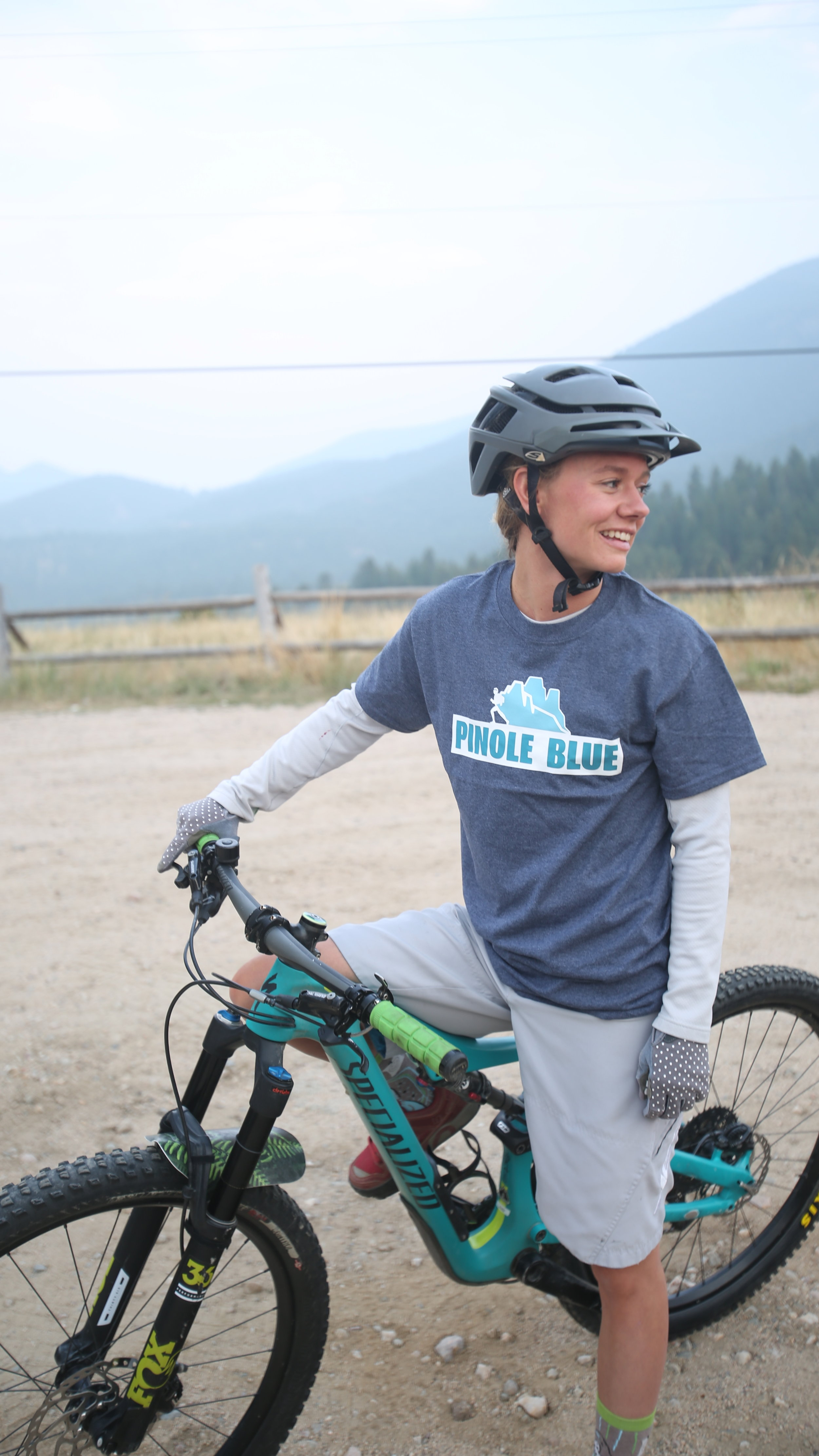 one of the most ENTHUSIASTIC mountain bikers around - Corina