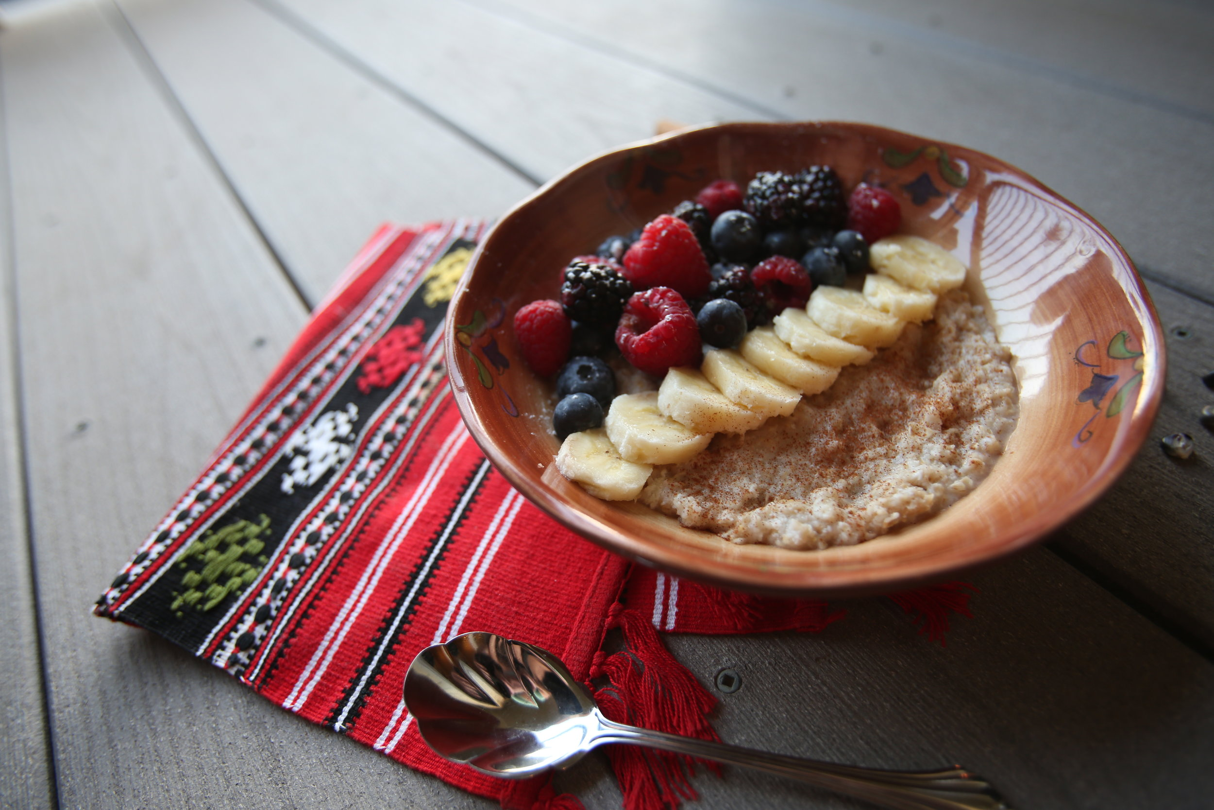 Photo of protein oatmeal