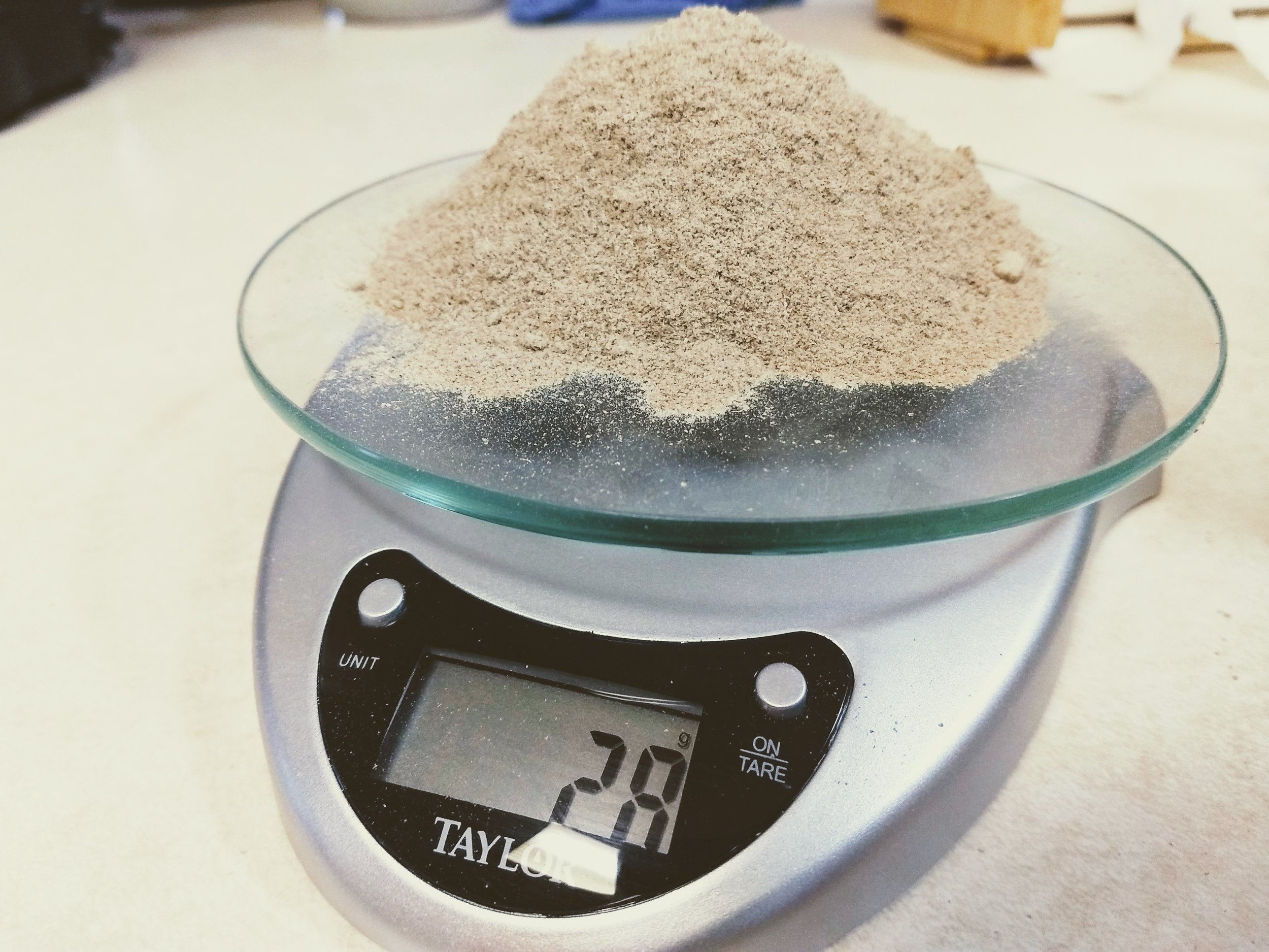 28 grams or 1 ounce of cricket powder boasts 19 grams of protein. A chicken thigh usually has around 10 grams, an egg has 6 grams, and an ounce cut of beef usually 7 grams. Half of the amount shown above would still have more protein than both the chicken and beef. 28 grams of cricket powder also provide 10% daily recommendation of iron, 3 grams of fiber and serves as a source of healthy fatty acids.