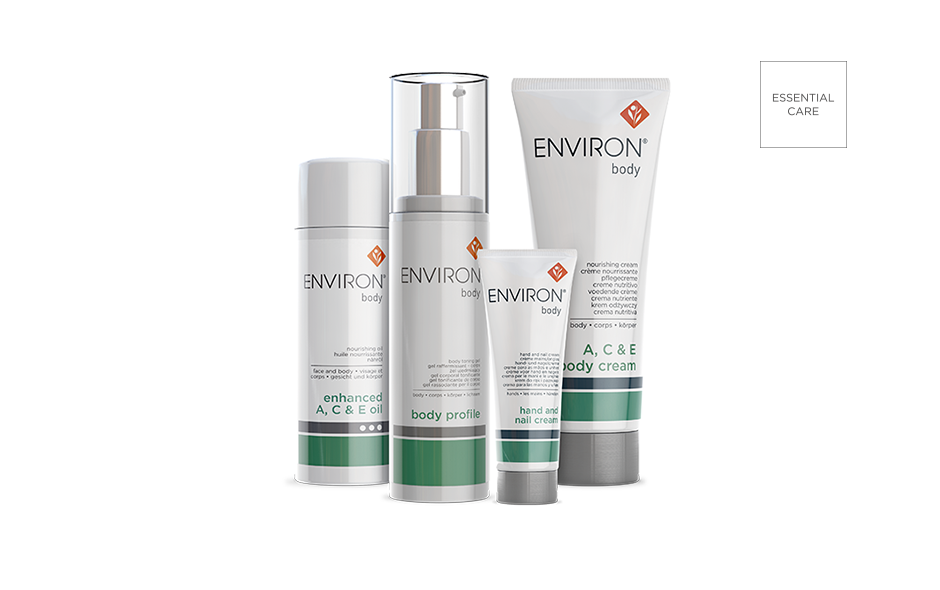 This scientifically formulated body care system works together to target sun damage, dryness and enhance the skin's overall APpEARANCE.