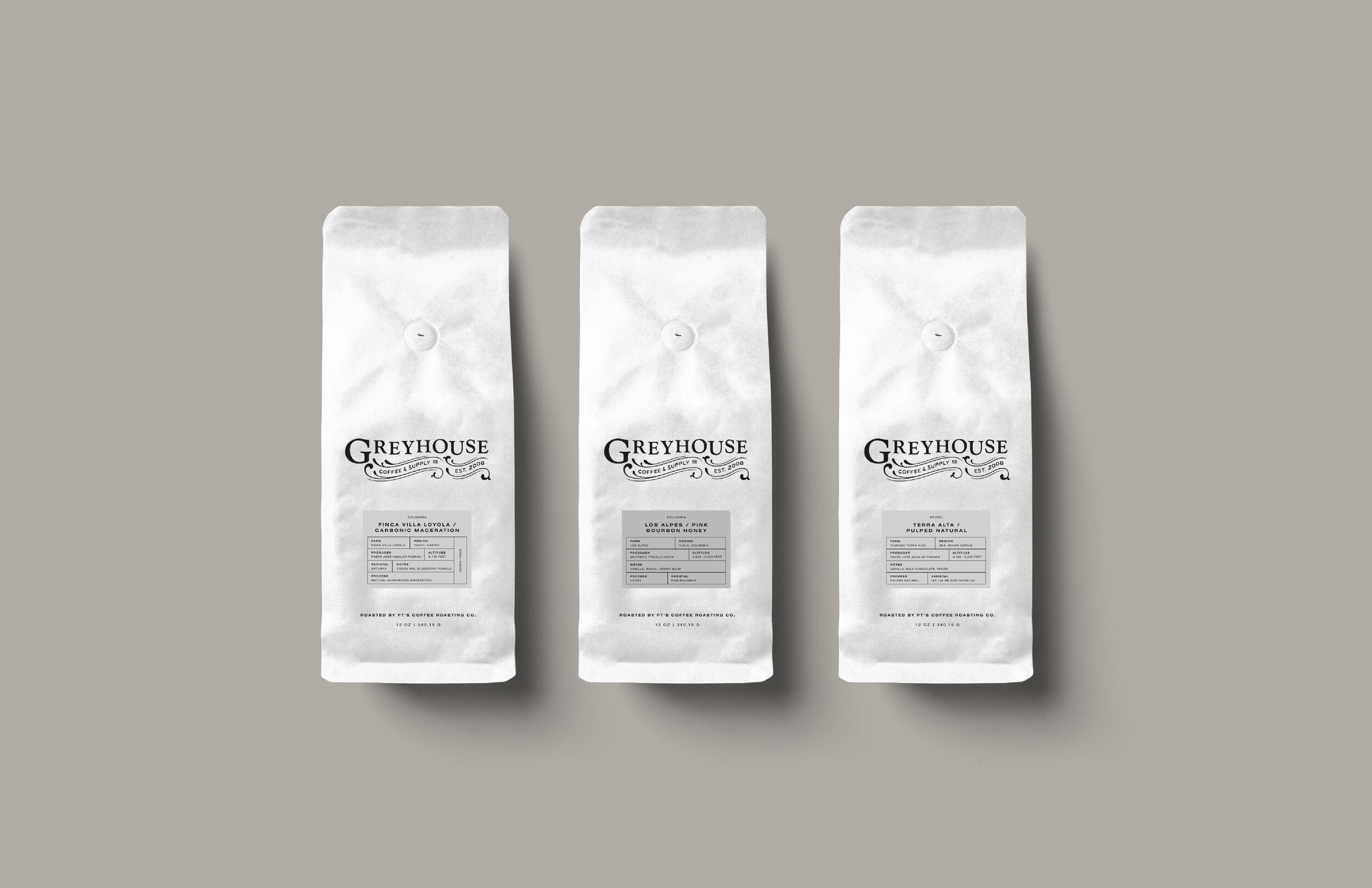 Greyhouse Coffee Bag Design Ashleigh Z Smith
