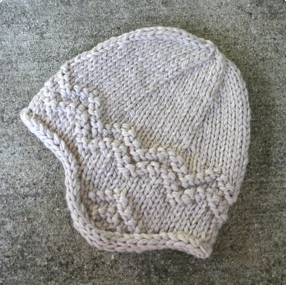 """""""North Shore Hat, a free knitting pattern for a quick and cozy adult's earflap hat with fun textured accents. - Click on the image to see the pattern. Save the pdf to your device. Copyright Mary Ann Stephens. For personal use only. Do not distribute."""