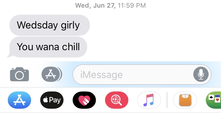 How he usually text me