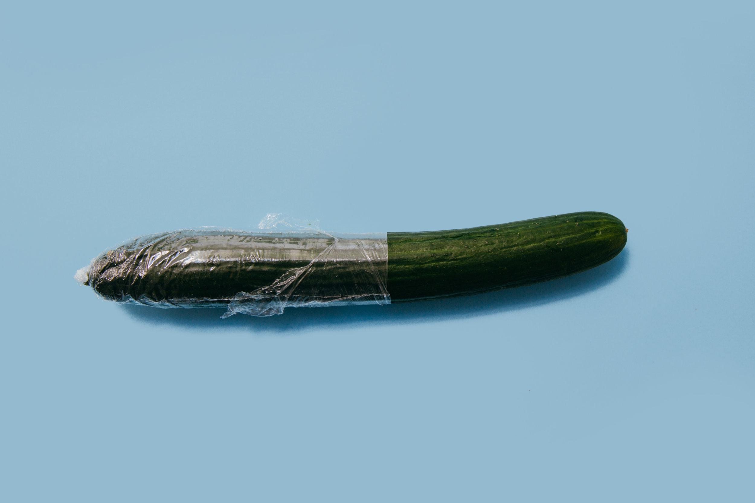 Get it…condom on penis.