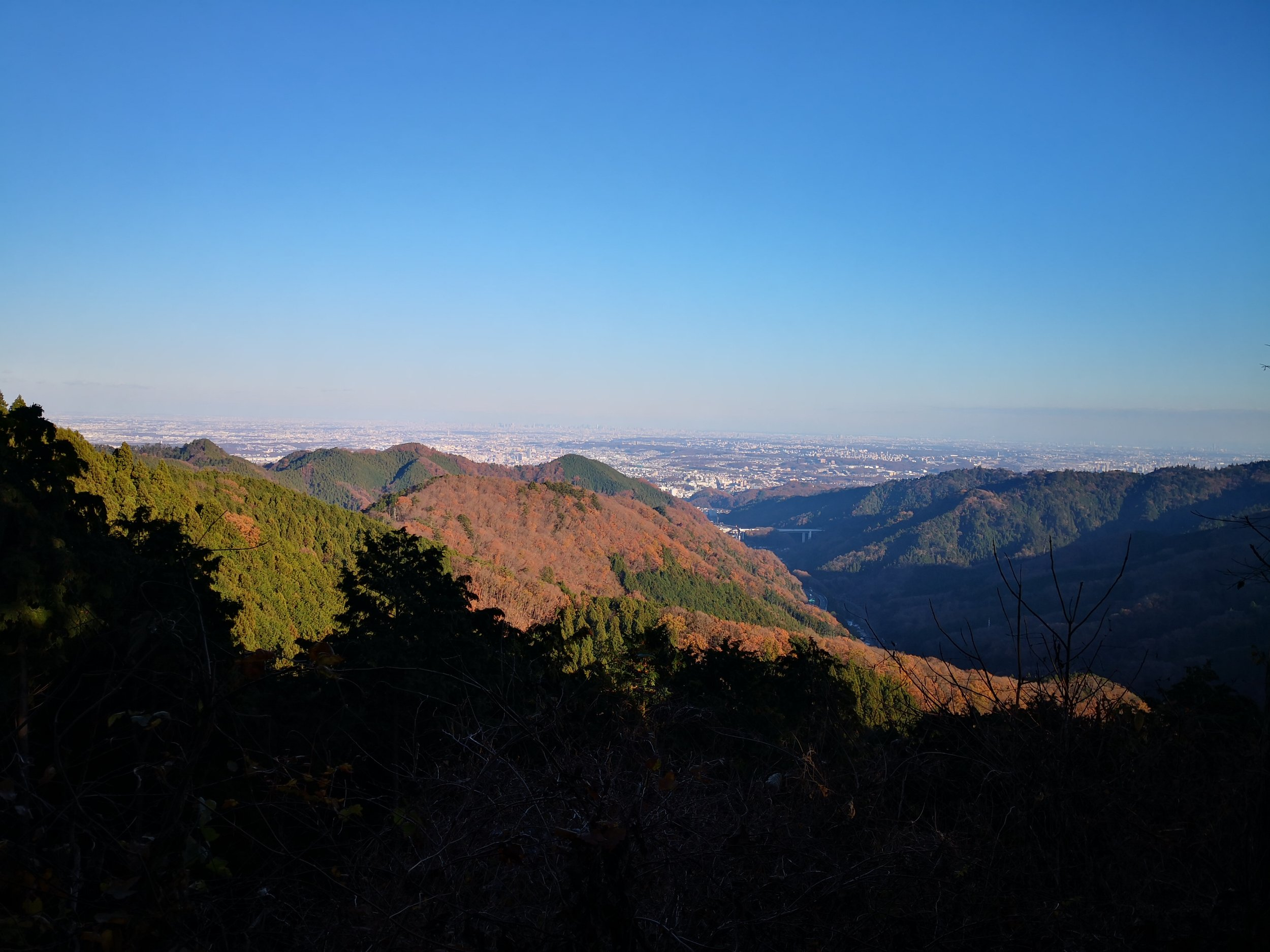 Views of Tokyo from Mount Jinba