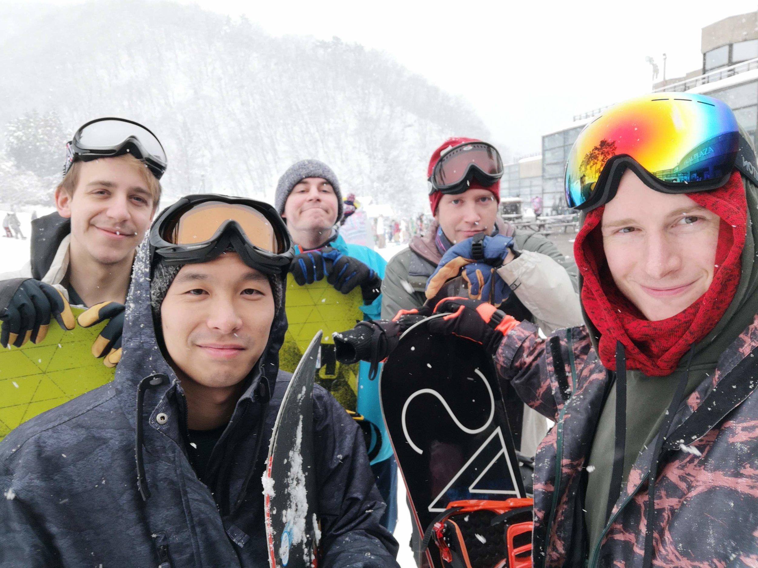 GGB Boys and Toru ready to shred