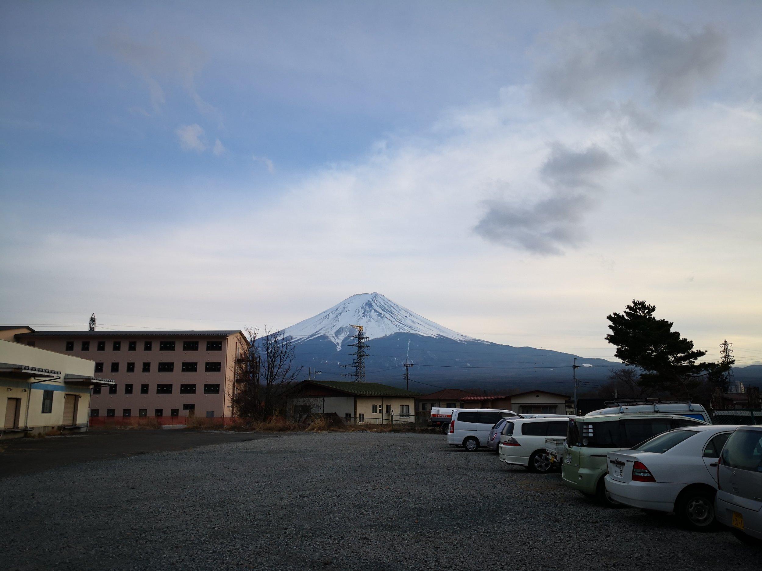 Snow Fuji from Kawaguchiko