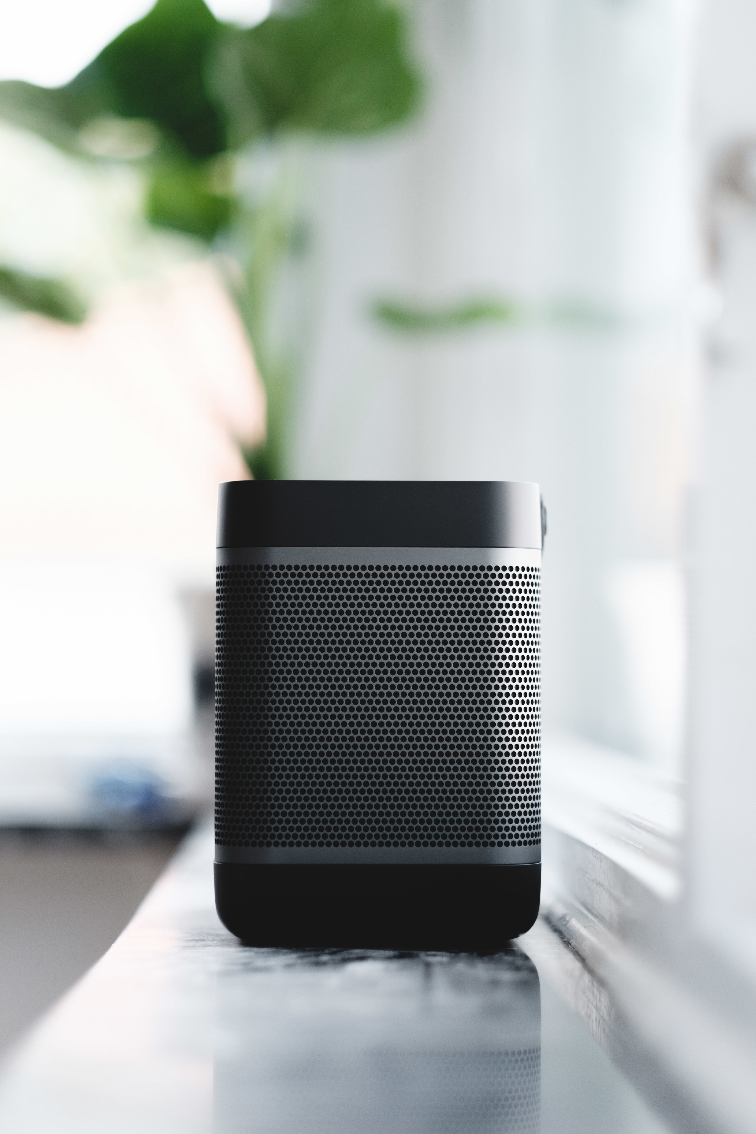 Add portable speakers to your outdoor living area.