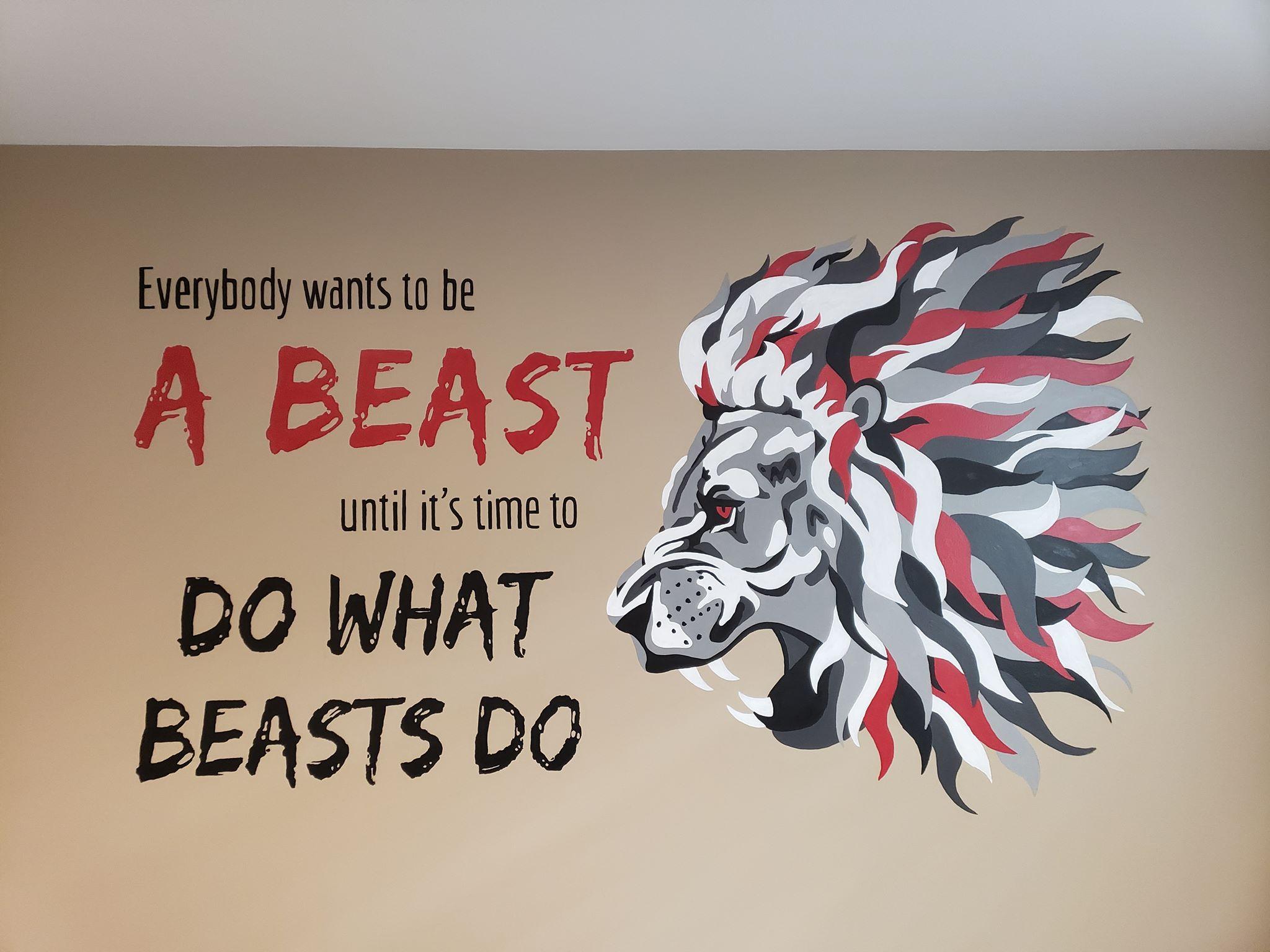 Beast Gym Mural