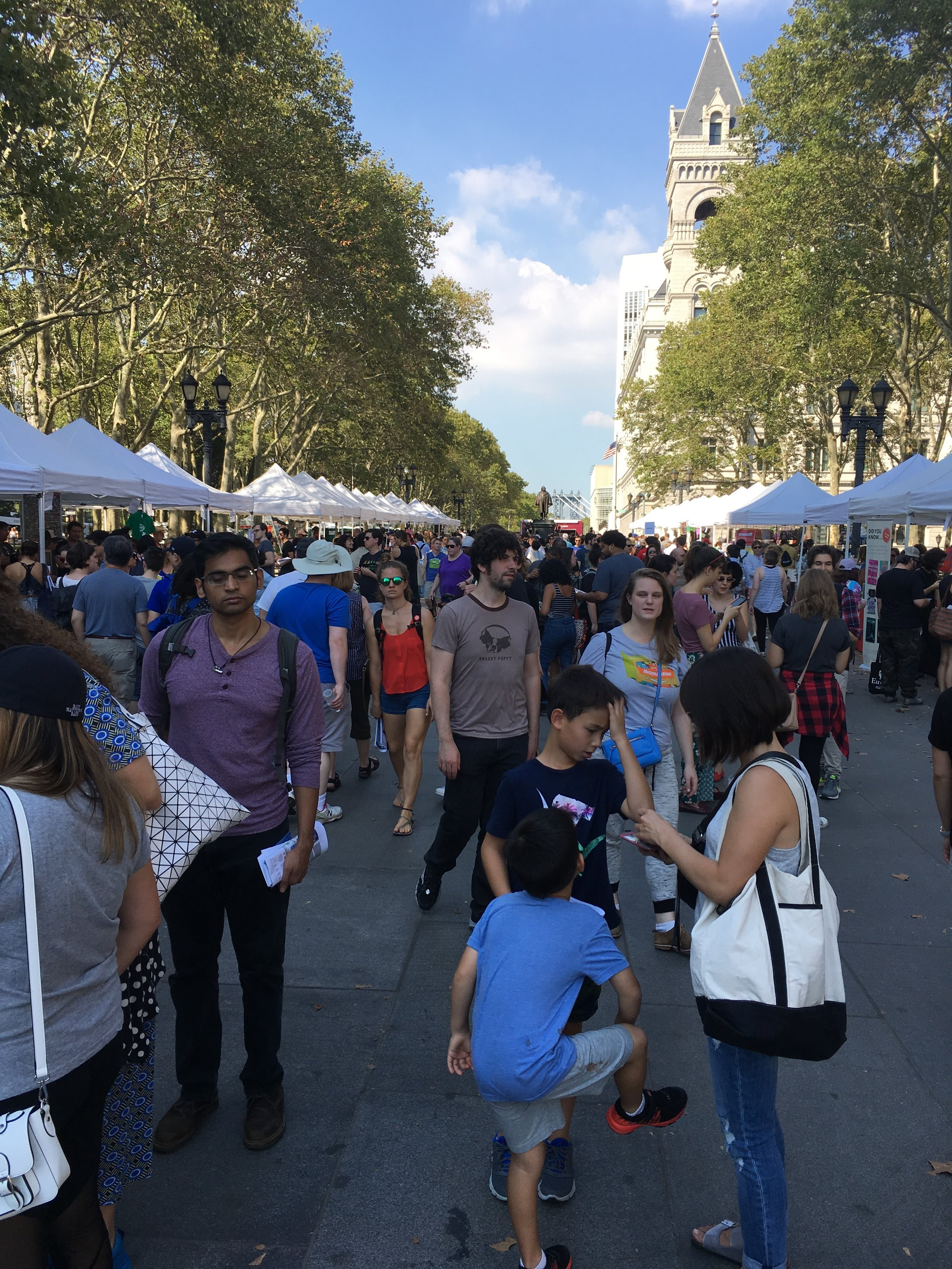 Being surrounded by people and books at the Brooklyn Book Festival