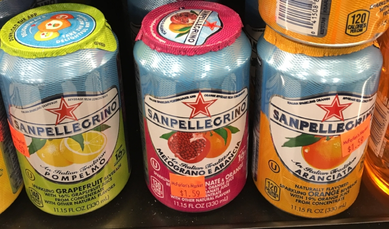 Fancy, tasty seltzer