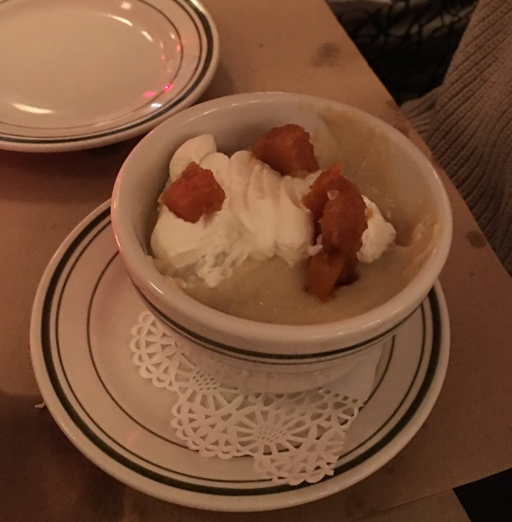Butterscotch pudding from Trattoria Carina in Philadelphia, PA