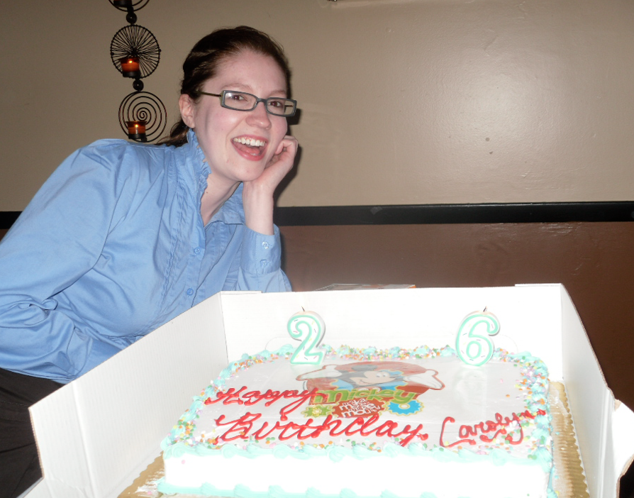 My 26th birthday. Not pictured: the annoyance expressed by my boyfriend for me wanting to stay out longer