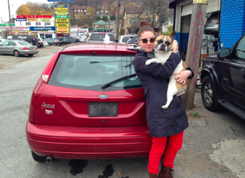 Me and Remy saying a tearful goodbye to my 'Pussy Wagon' in Staten Island.