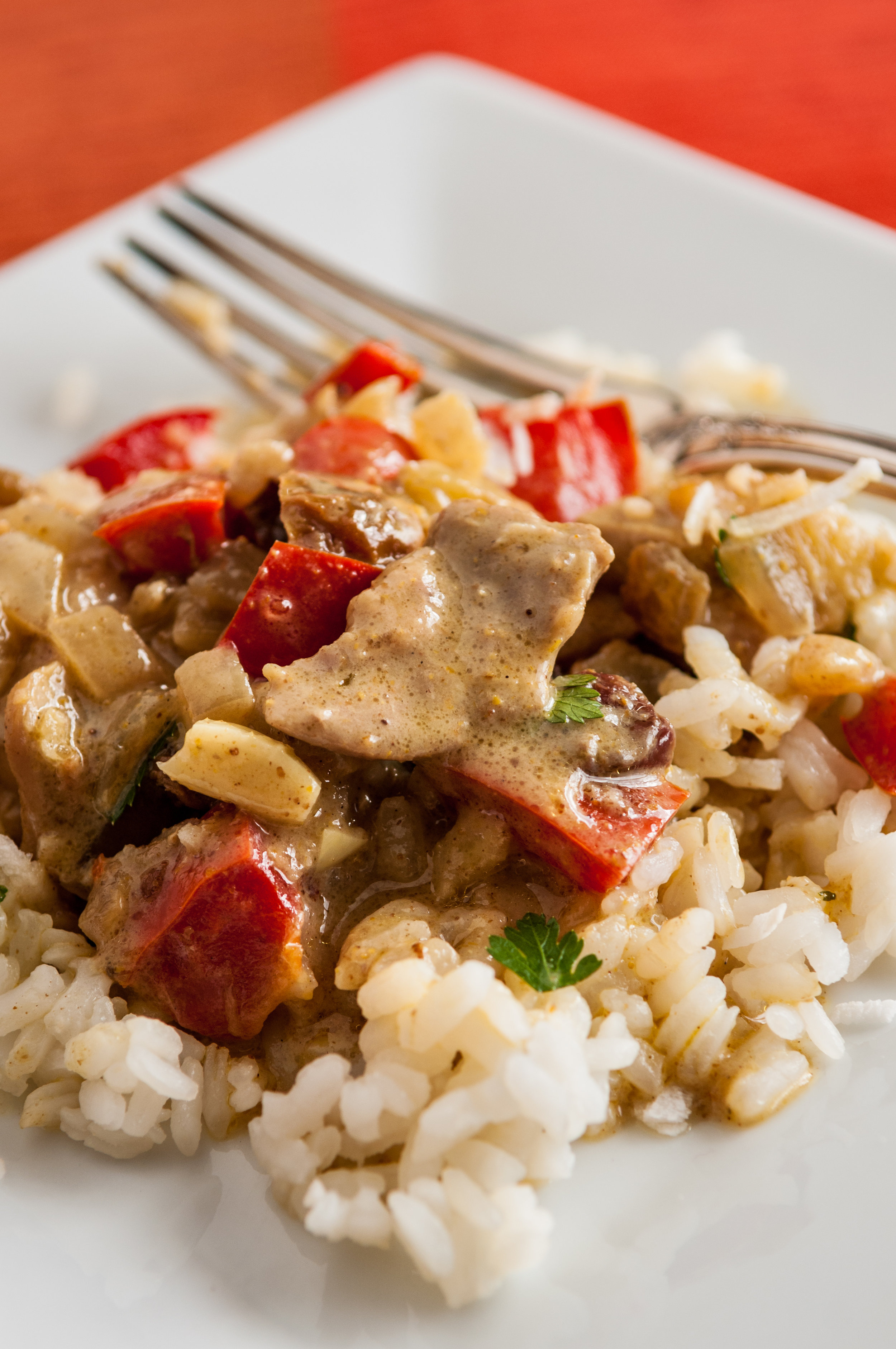 Coconut chicken curry with cannabis