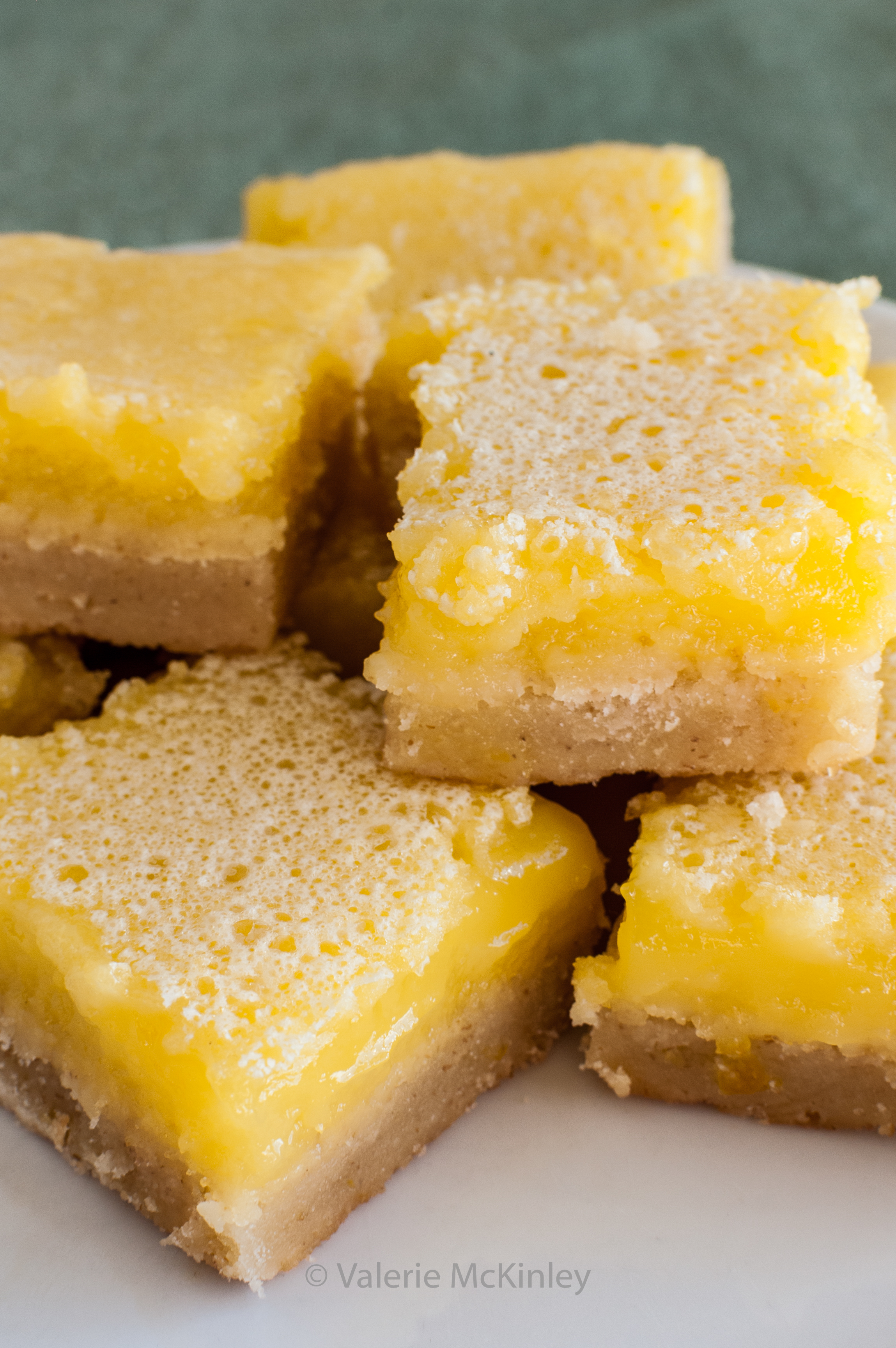 """Glorious Lemon Bars - the recipe is in """"EveryDayMaryJ, A Practical Guide to Cooking With Cannabis"""" by Mary J. White. Photo copyright Valerie McKinley, all rights reserved."""