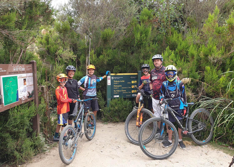 Family mountain biking adventure in New Zealand