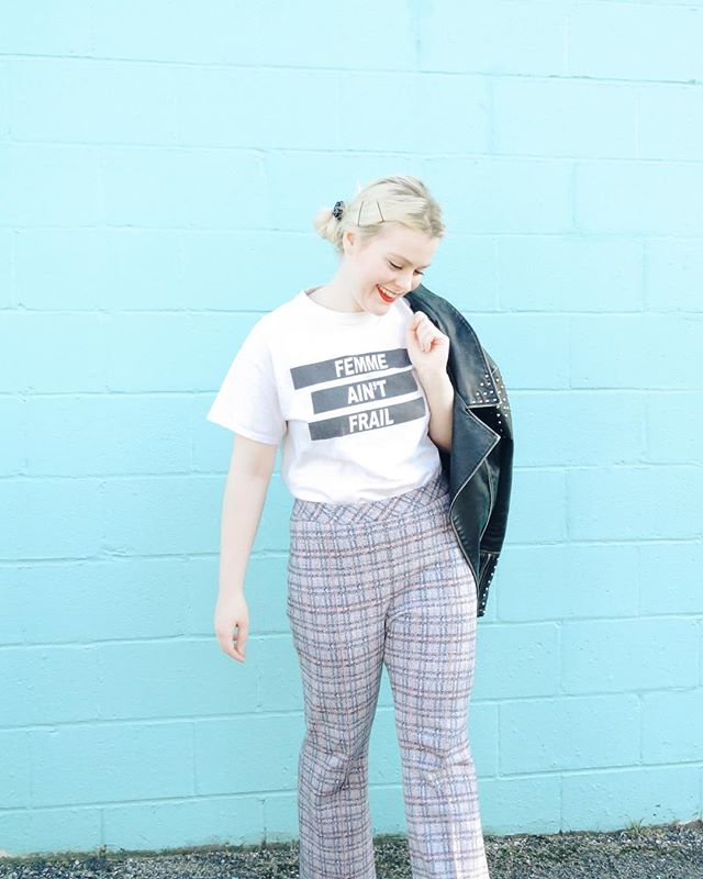 Femme👏🏻Ain't👏🏻Frail👏🏻 A strong slogan for a strong Donna Anna💕 #feminist #feministapparel