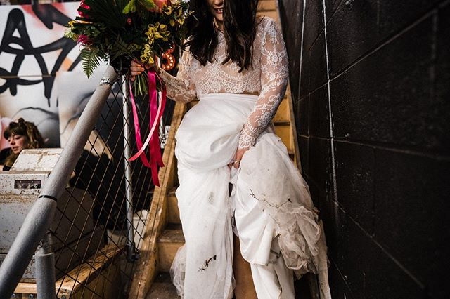 Don't ever be too precious with your outfit babe, this mess is exactly what a good time is all about! Tangled up with twigs and covered in dirt just shows you did it right 🤷🏼‍♀️🙌🏼 . . Hayley wearing Effy + Scarlett from @rachel_burgess_bridal_boutique shot by @throughthewoodsweran with florals from @forbesfield 💖