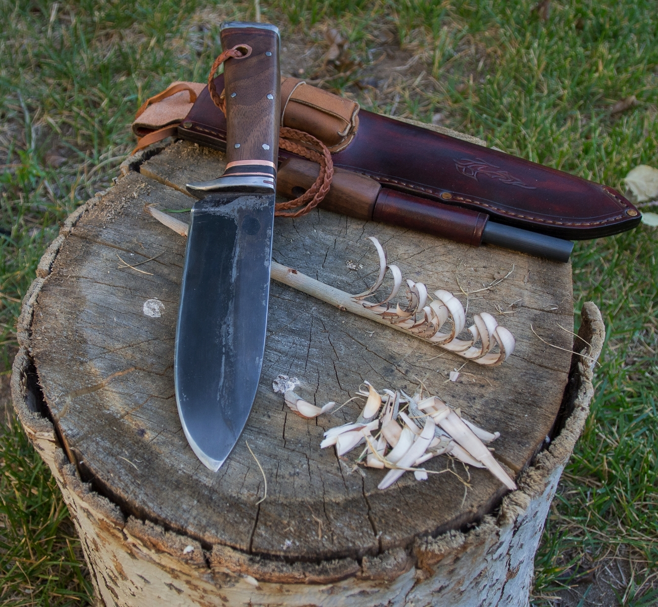 Hand forged Survival Knife, Mountain Caribou Knife