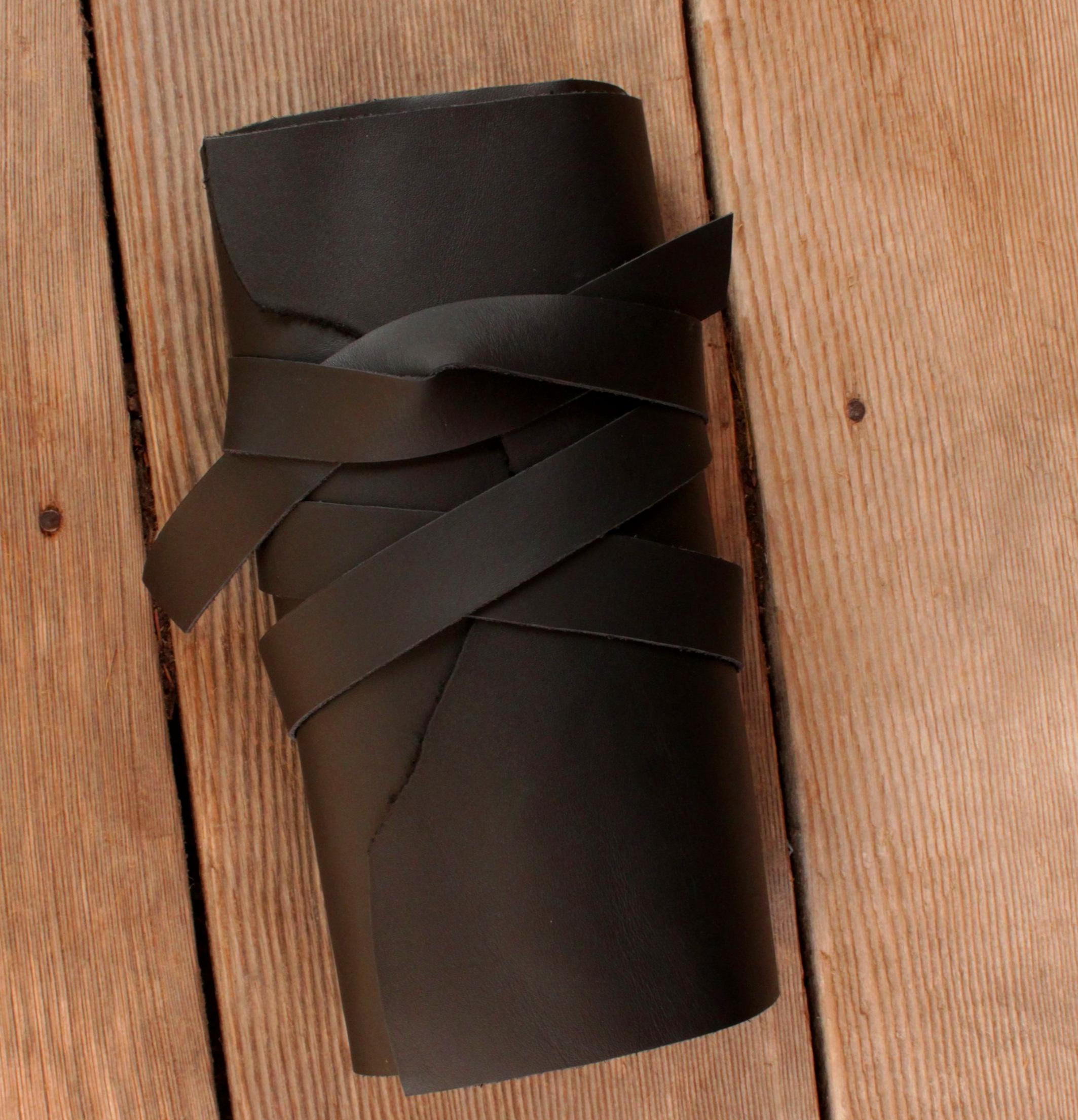 Custom made leather knife roll.