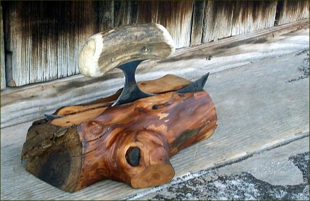 Fruit Wood Ulu Knife Block