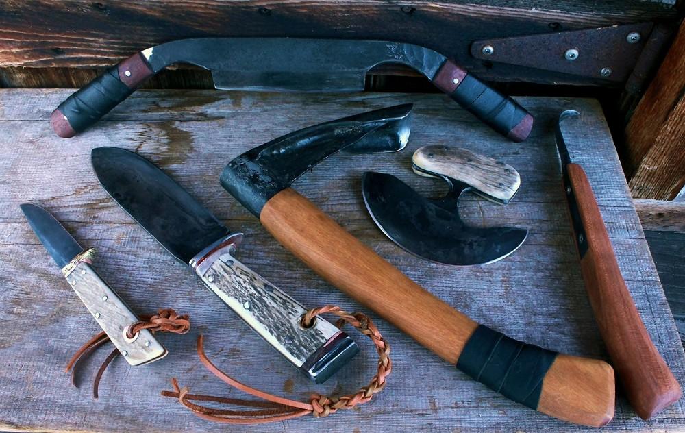 Bushcraft Survival Tool Set Unsheathed